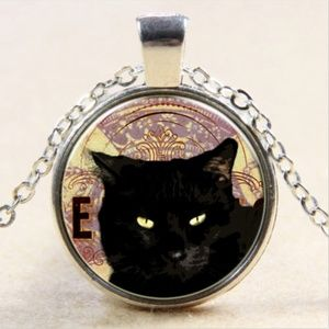 Necklace- NEW- Black Kitty Cat Necklace